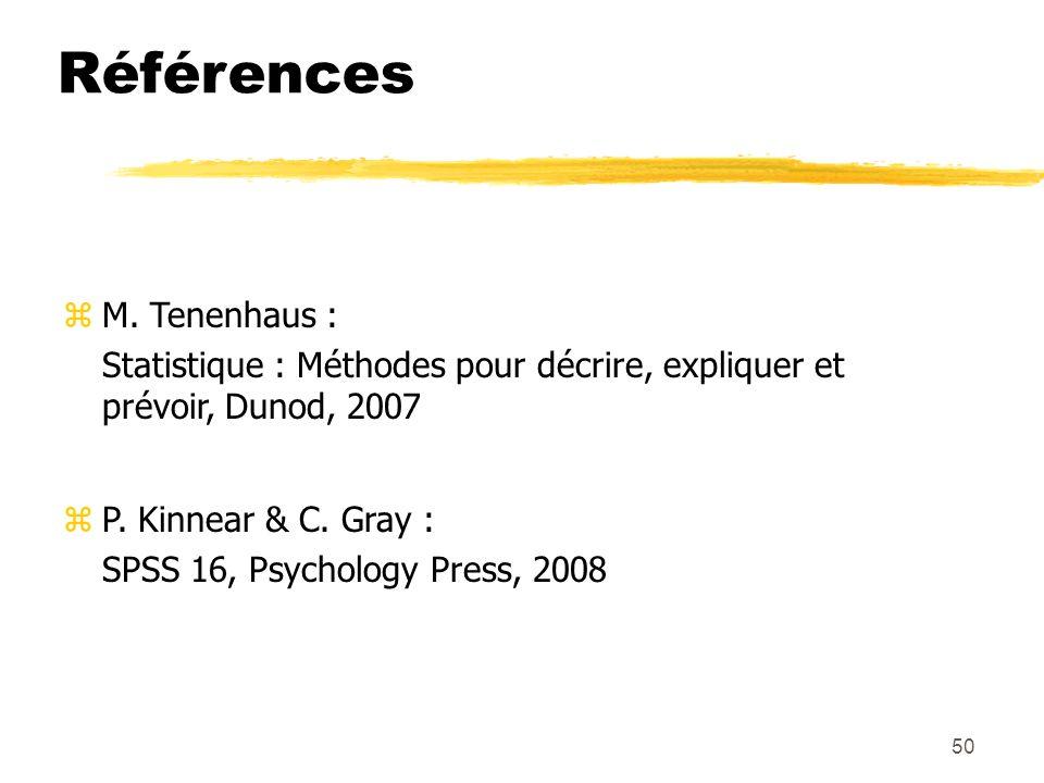 Références M. Tenenhaus :