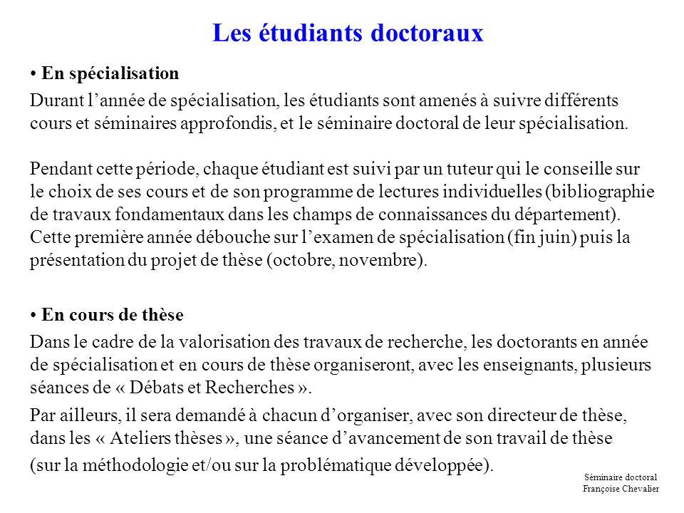 Les étudiants doctoraux