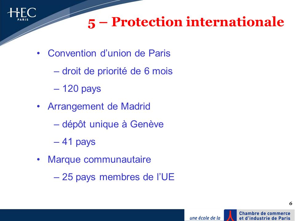 5 – Protection internationale
