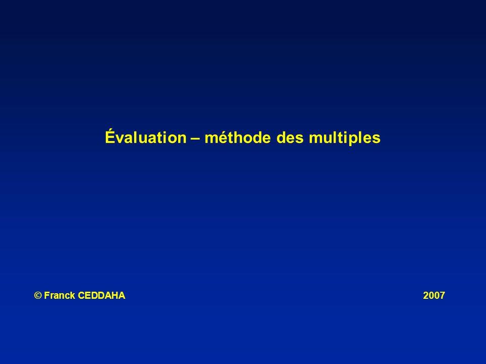 Évaluation – méthode des multiples