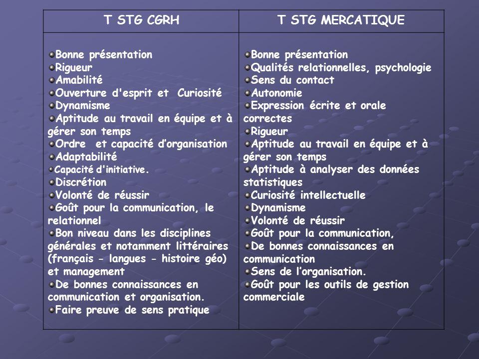 T STG CGRH T STG MERCATIQUE
