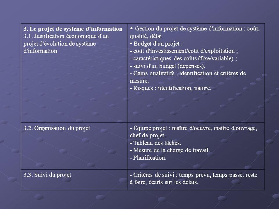 3. Le projet de système d information