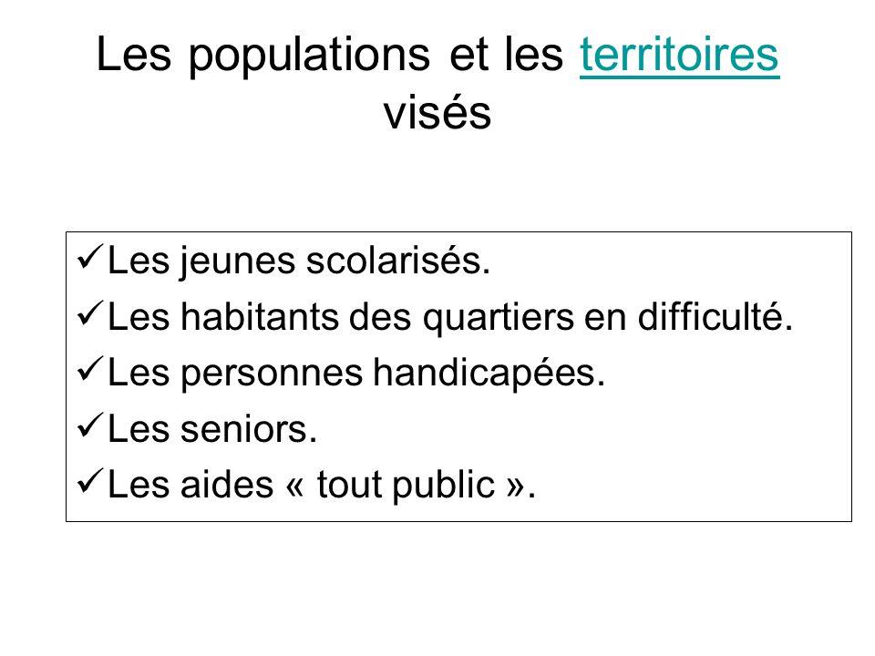 Les populations et les territoires visés