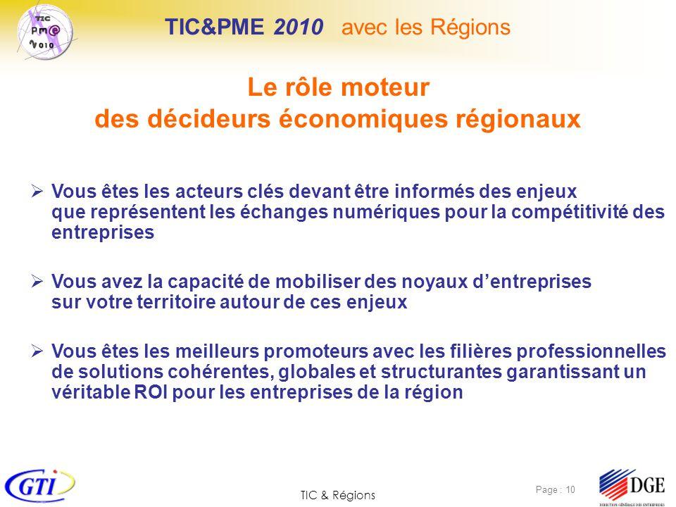 TIC&PME 2010 avec les Régions