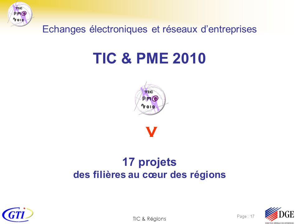 TIC & PME 2010 V 17 projets des filières au cœur des régions