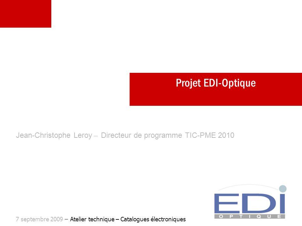 Jean-Christophe Leroy ̶ Directeur de programme TIC-PME 2010