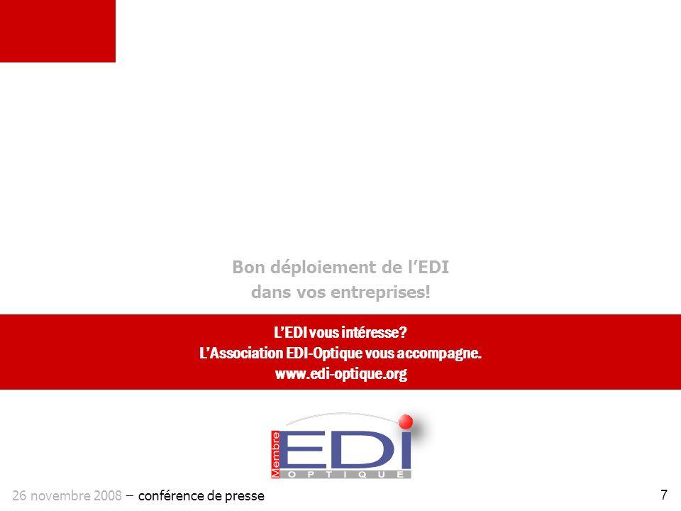 Bon déploiement de l'EDI dans vos entreprises!