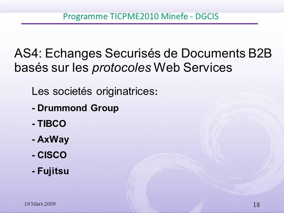 Programme TICPME2010 Minefe - DGCIS