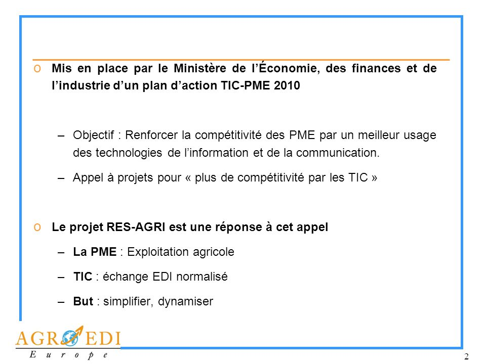 Mis en place par le Ministère de l'Économie, des finances et de l'industrie d'un plan d'action TIC-PME 2010