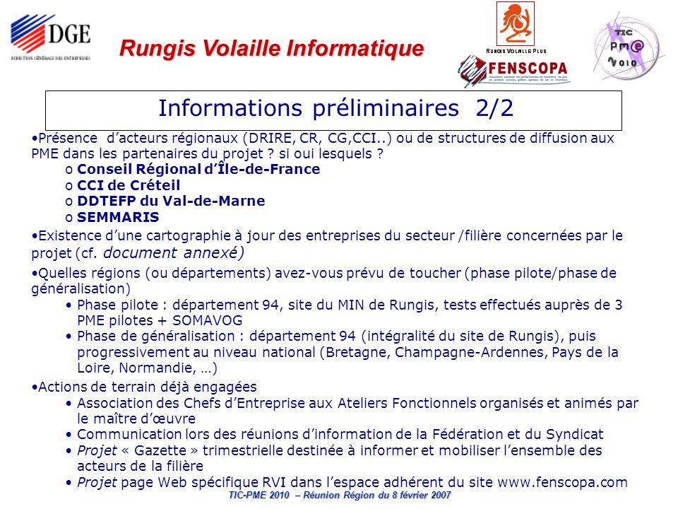 Informations préliminaires 2/2