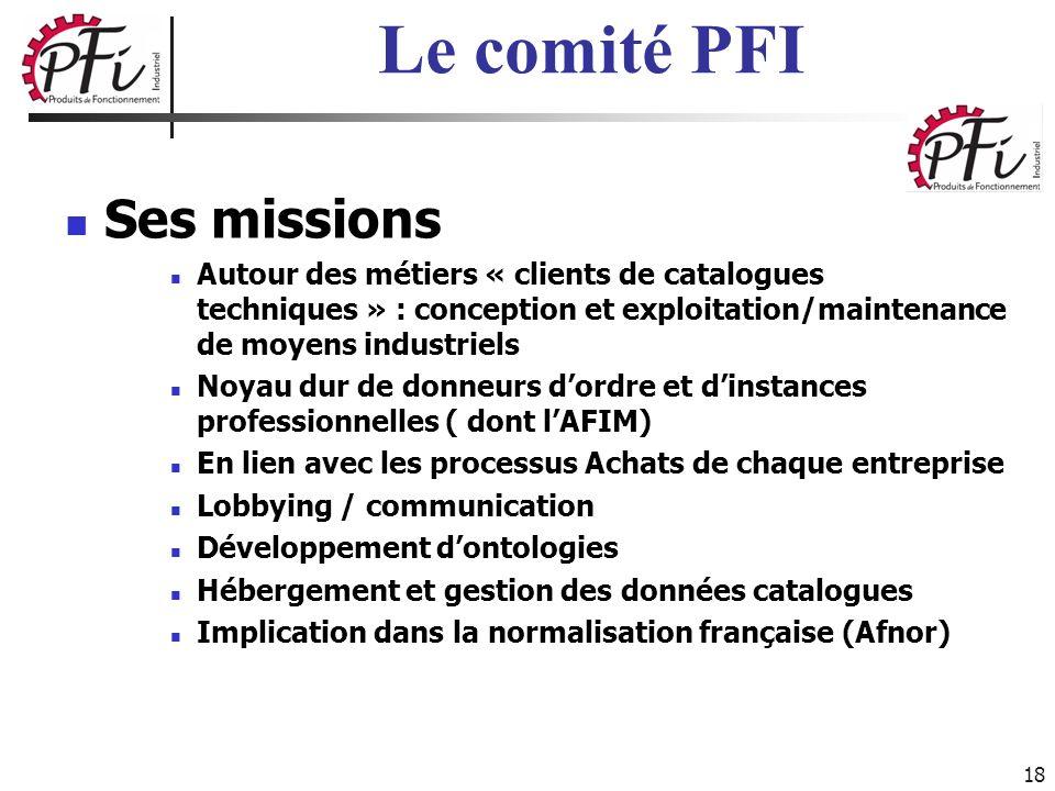 Le comité PFI Ses missions