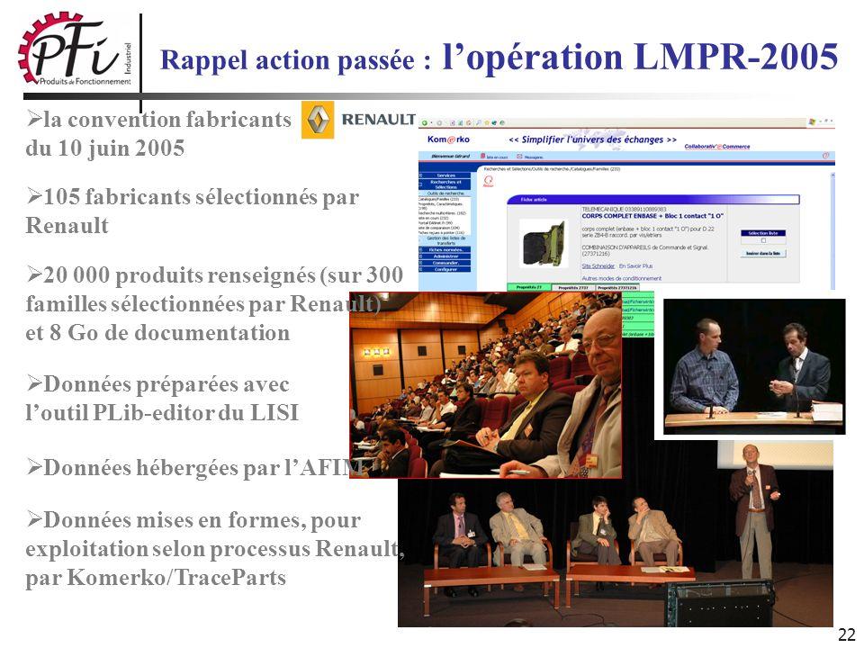 Rappel action passée : l'opération LMPR-2005