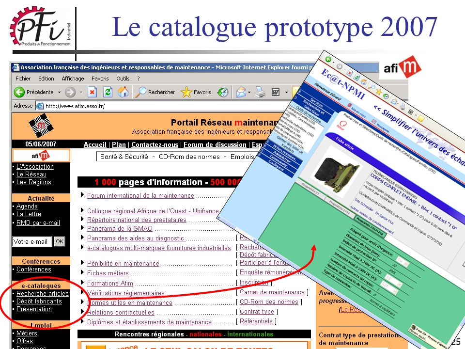 Le catalogue prototype 2007