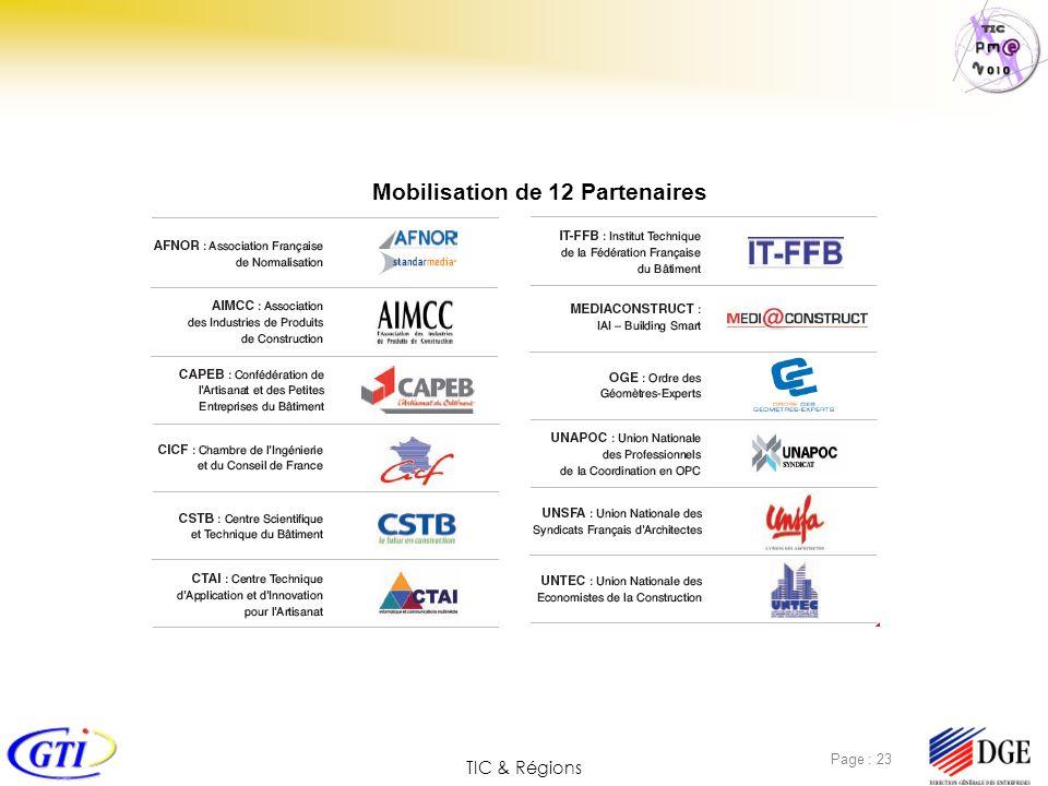Mobilisation de 12 Partenaires