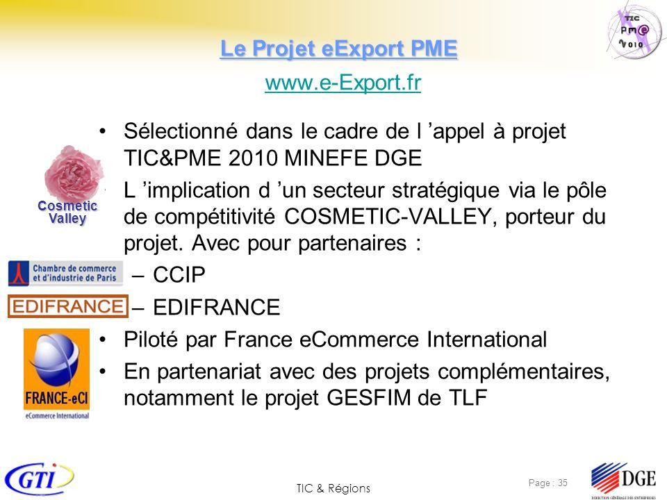 Le Projet eExport PME www.e-Export.fr