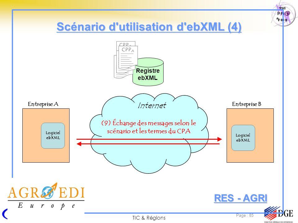 Scénario d utilisation d ebXML (4)