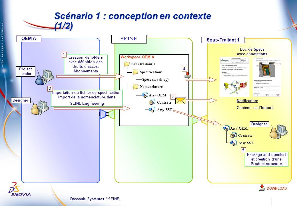 Scénario 1 : conception en contexte (1/2)