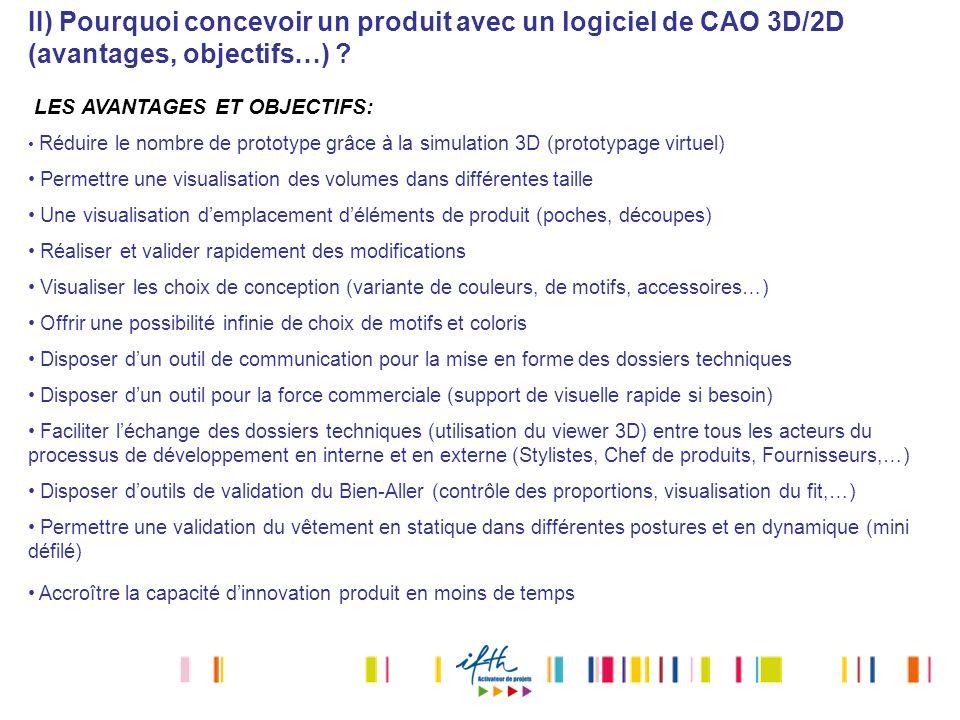 II) Pourquoi concevoir un produit avec un logiciel de CAO 3D/2D (avantages, objectifs…)