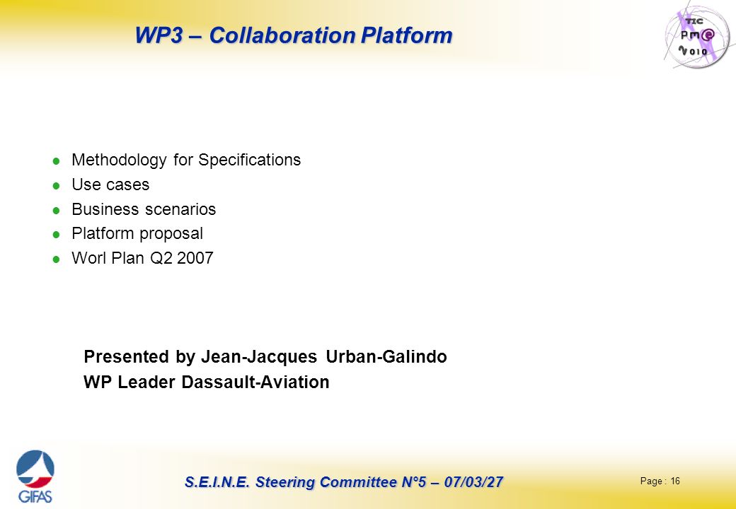 WP3 – Collaboration Platform