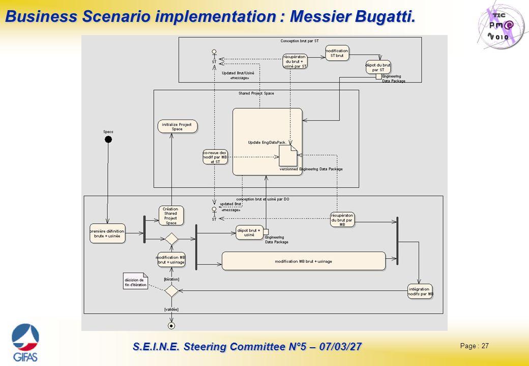 Business Scenario implementation : Messier Bugatti.