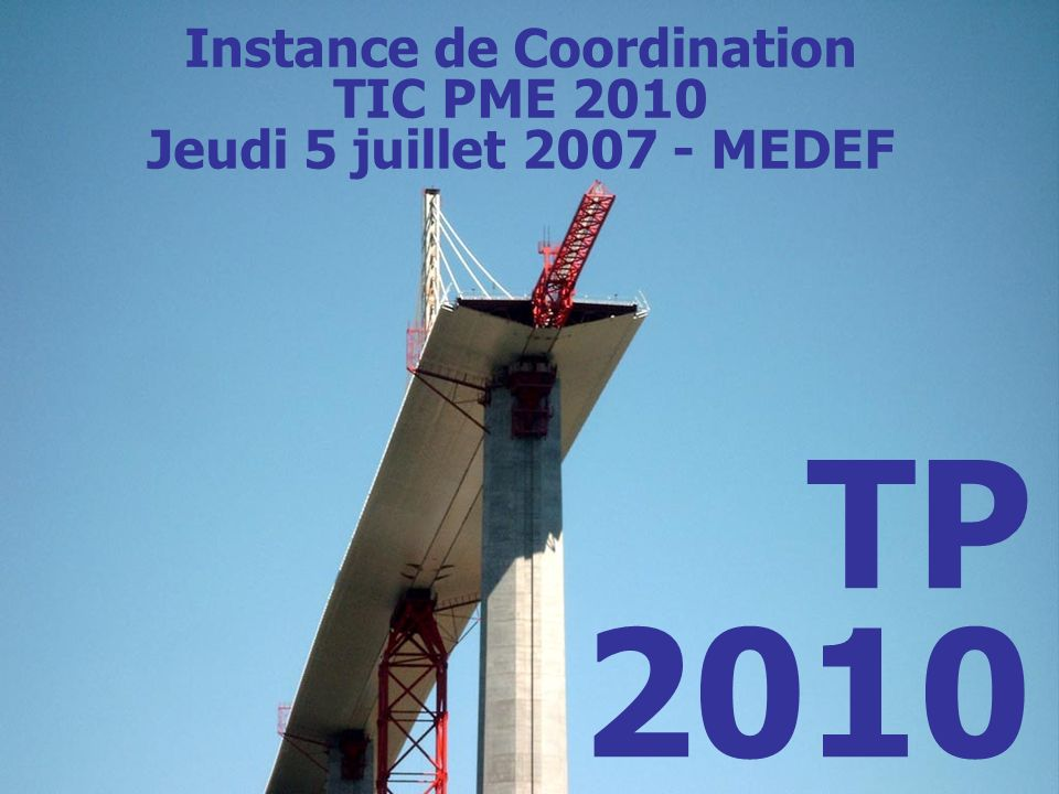 Instance de Coordination TIC PME 2010