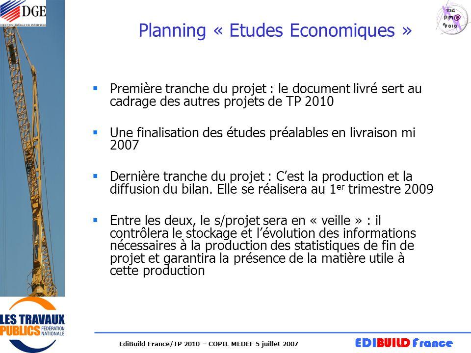 Planning « Etudes Economiques »