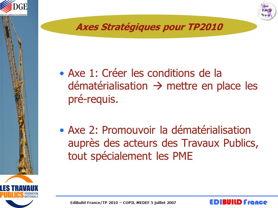 Axes Stratégiques pour TP2010