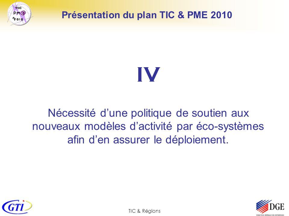 Présentation du plan TIC & PME 2010