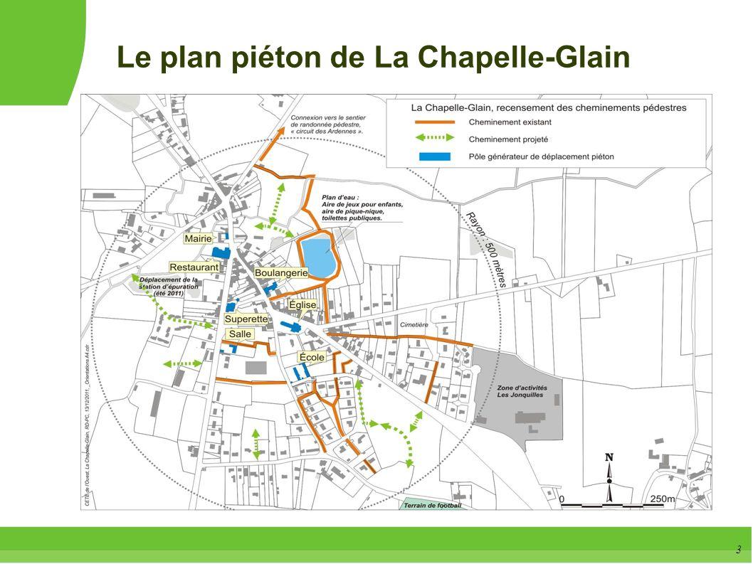 Le plan piéton de La Chapelle-Glain