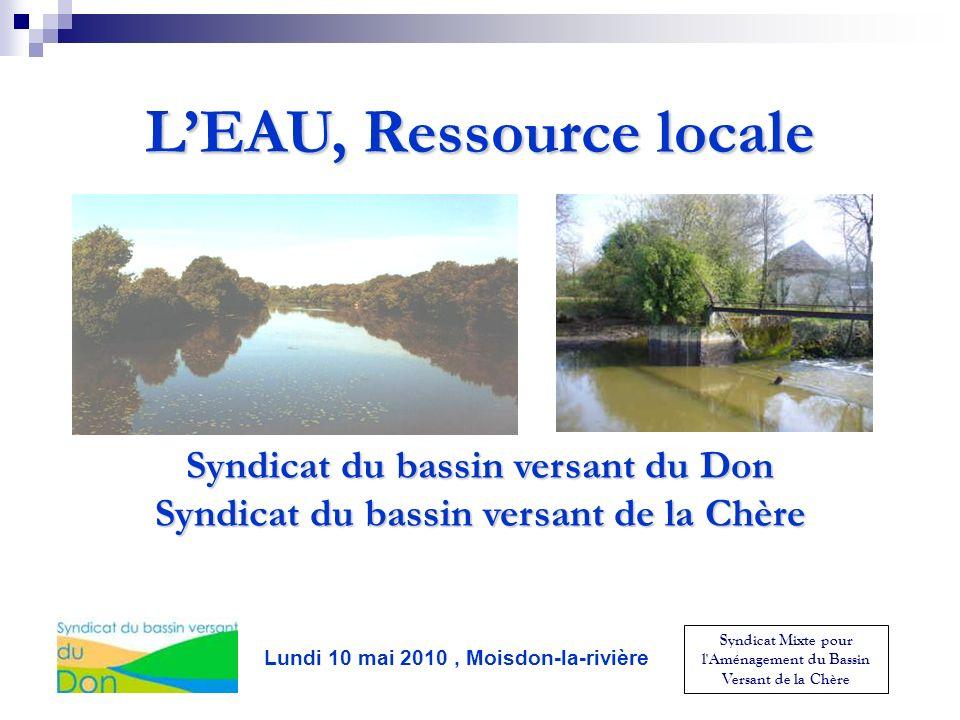 L'EAU, Ressource locale