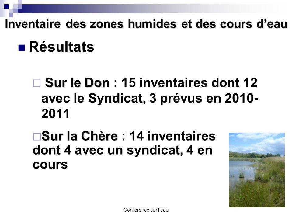 Inventaire des zones humides et des cours d'eau