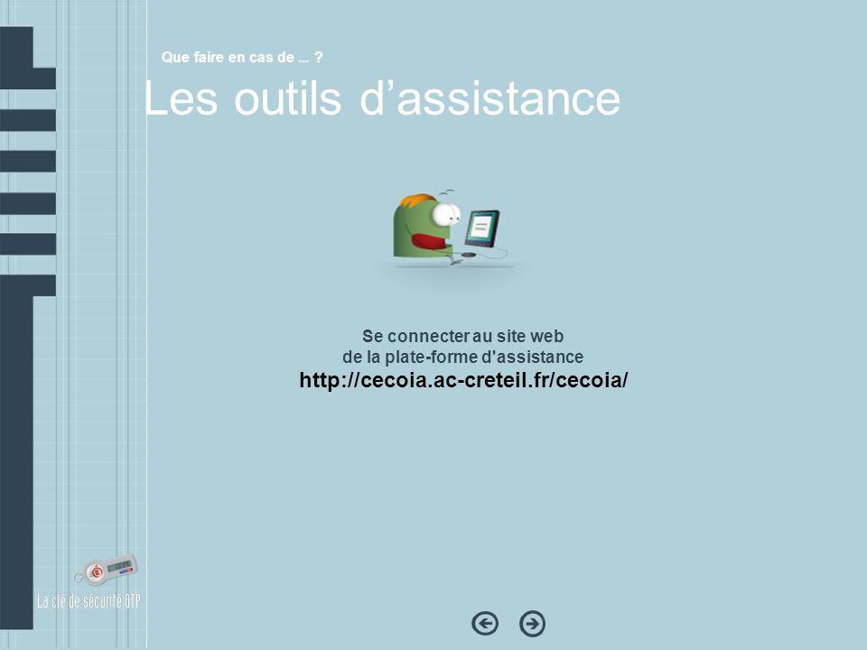 Se connecter au site web de la plate-forme d assistance
