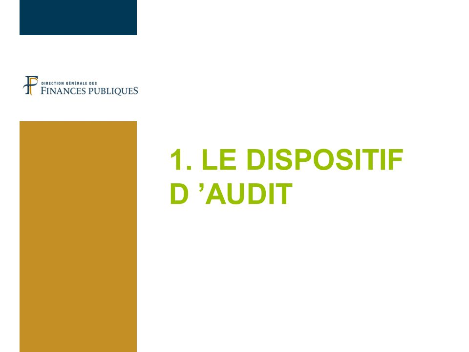 14/12/12 1. LE DISPOSITIF D 'AUDIT