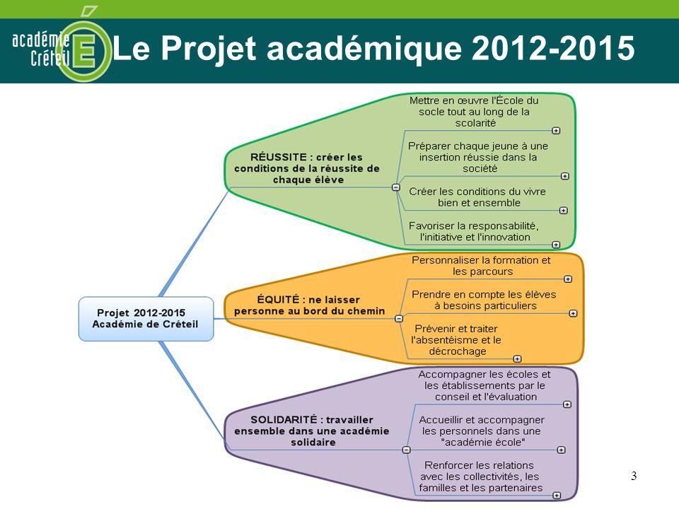 Le Projet académique 2012-2015 3