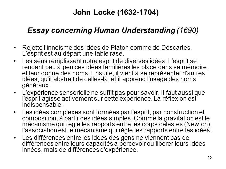 Essay concerning Human Understanding (1690)