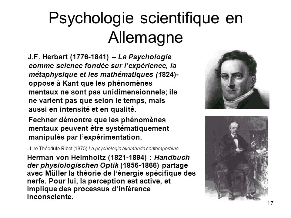Psychologie scientifique en Allemagne