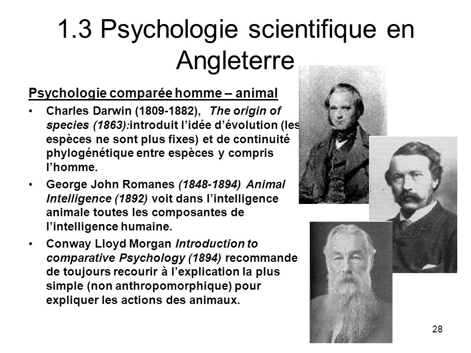 1.3 Psychologie scientifique en Angleterre