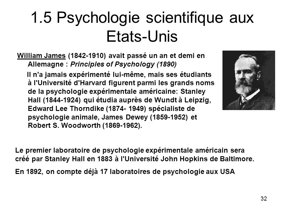 1.5 Psychologie scientifique aux Etats-Unis