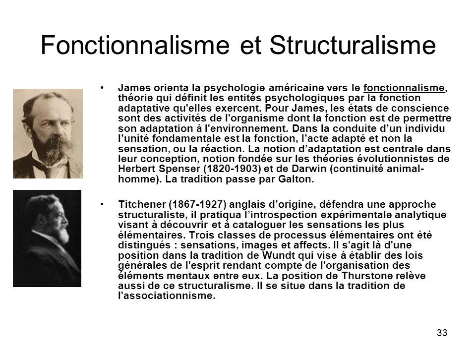 Fonctionnalisme et Structuralisme