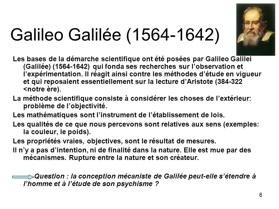 Galileo Galilée (1564-1642)