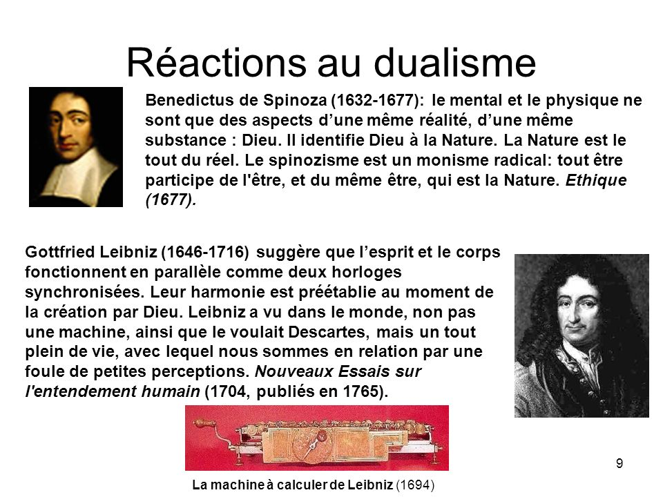 Réactions au dualisme