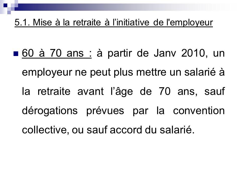 5.1. Mise à la retraite à l'initiative de l employeur