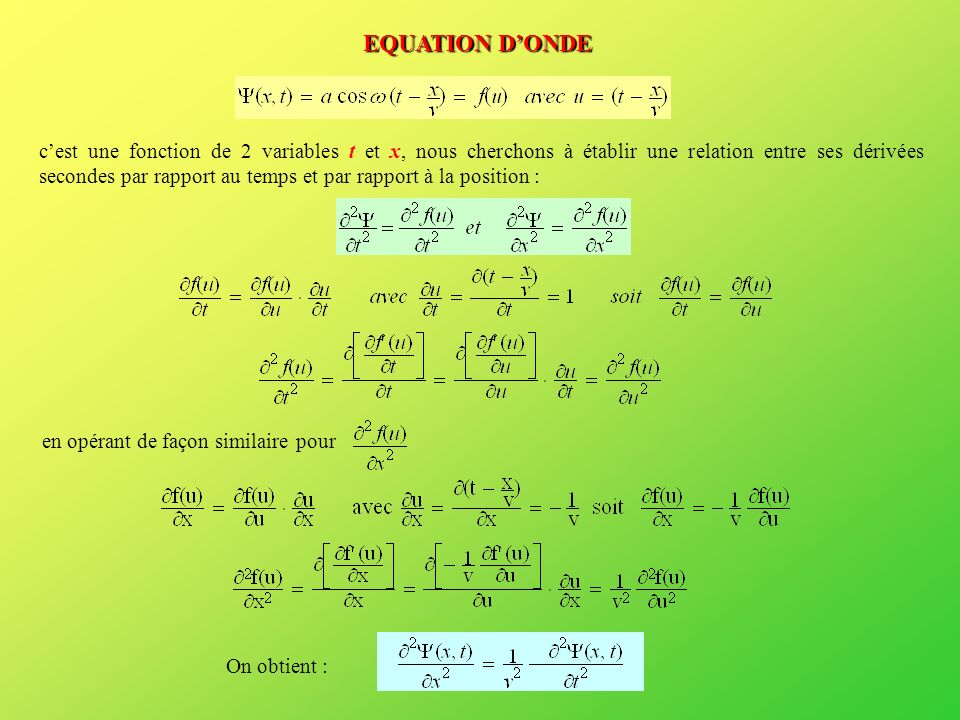 EQUATION D'ONDE