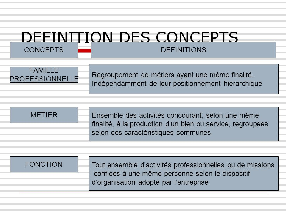 DEFINITION DES CONCEPTS