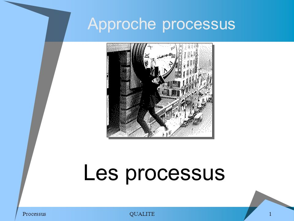 Approche processus Les processus.