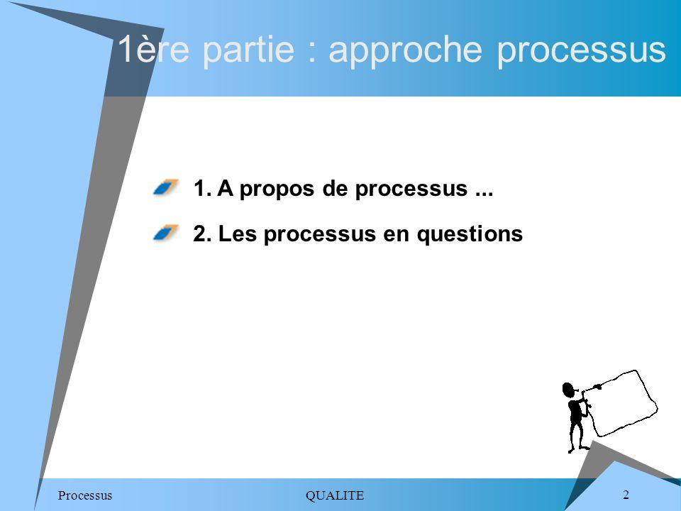 1ère partie : approche processus