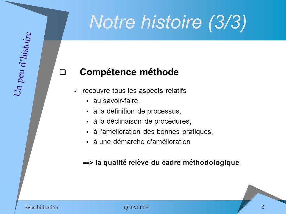 Notre histoire (3/3) Un peu d'histoire Compétence méthode