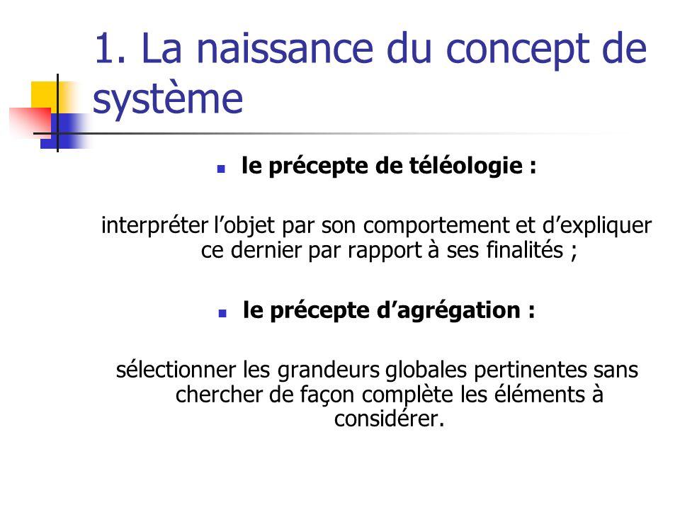 1. La naissance du concept de système