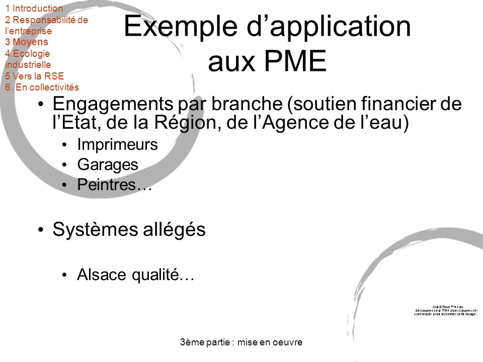 Exemple d'application aux PME