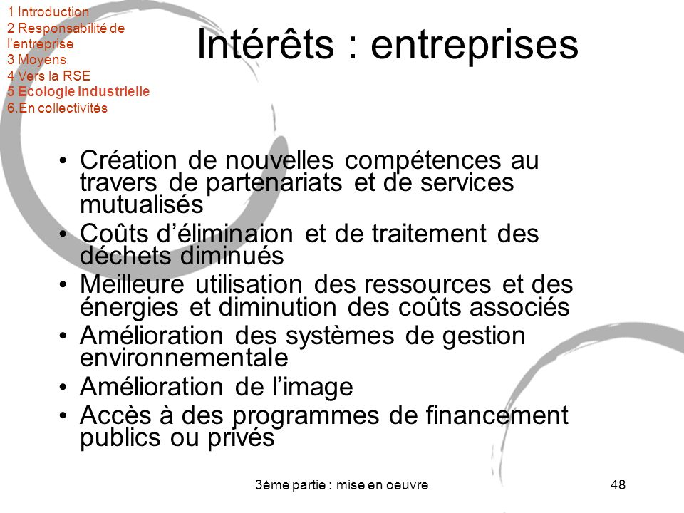 Intérêts : entreprises